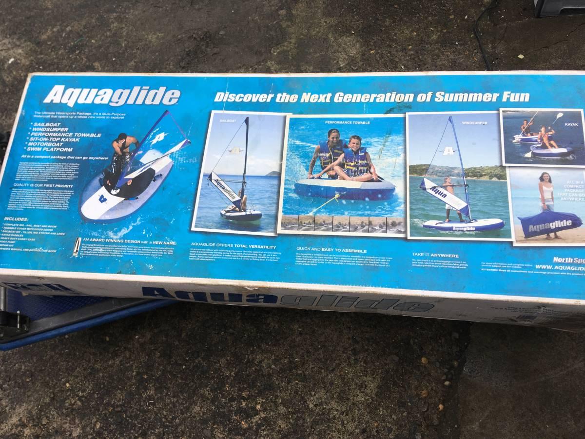 【未使用品】AquaGlide/アクアグライド ボード ヨット カヤック ※訳有 箱の汚れ