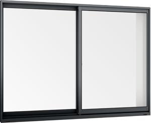 在庫品 アルミサッシ LowE ペアガラス 引違い窓 14705(15005)ブラック 訳あり_画像2
