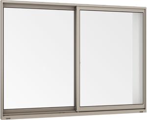 在庫品 アルミサッシ LowE ペアガラス 引違い窓 05705(06005)シャイングレー _画像2
