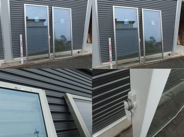 在庫品 アルミサッシ LowE ペアガラス シャッター 引違い窓 16520 プラチナステン_画像3