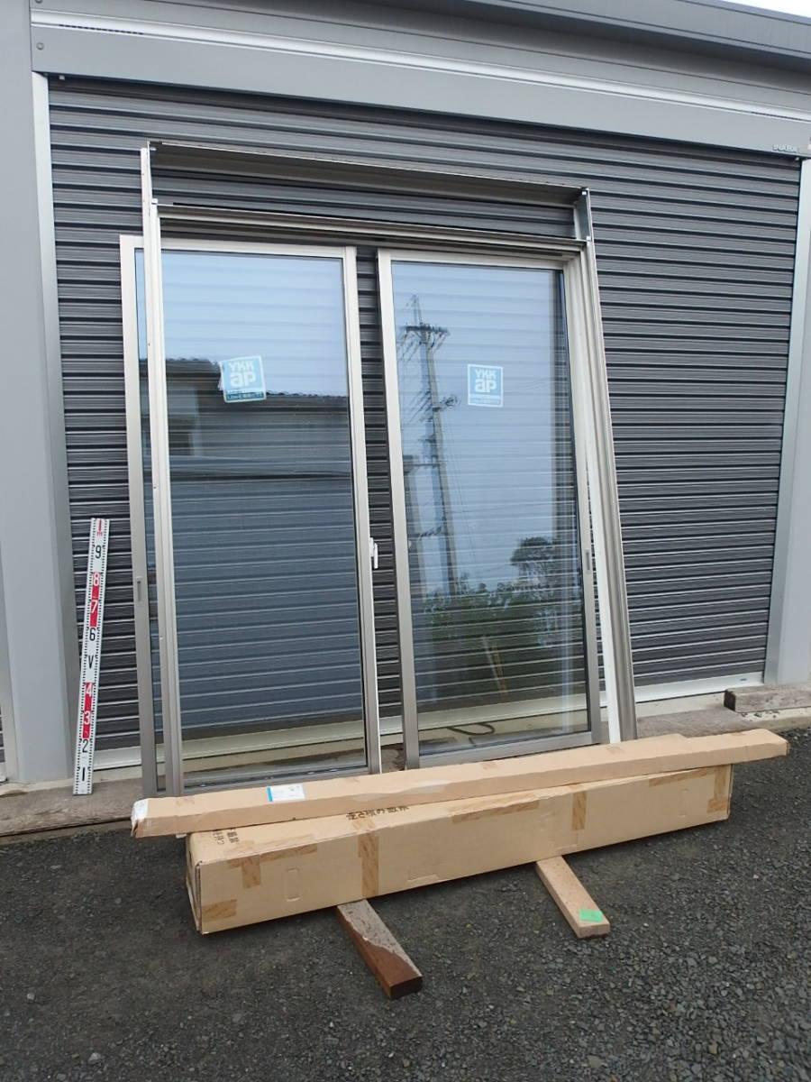 在庫品 アルミサッシ LowE ペアガラス シャッター 引違い窓 16520 プラチナステン_画像1
