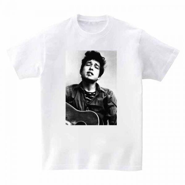 新品 Bob Dylan ボブ ディラン バンド ロック メタル3 半袖Tシャツ ホワイト M_画像1