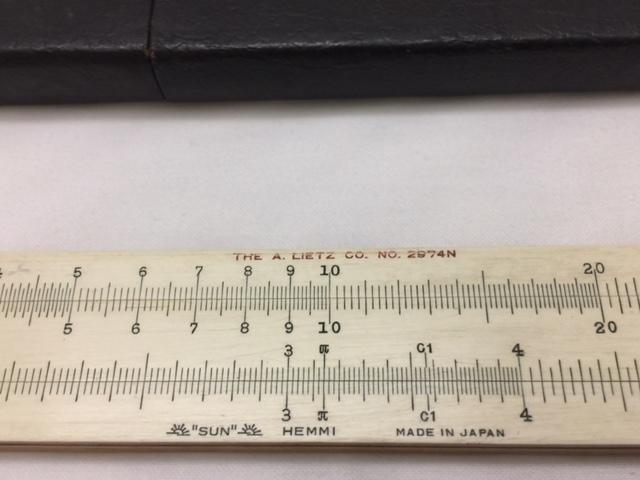 """■□ 計算尺 HEMMI ヘンミ NO.2974N """"SUN"""" HEMMI'S BAMBOO SLIDE RULL 長さ279mm / レトロ □■ レターパックライト360 _画像3"""