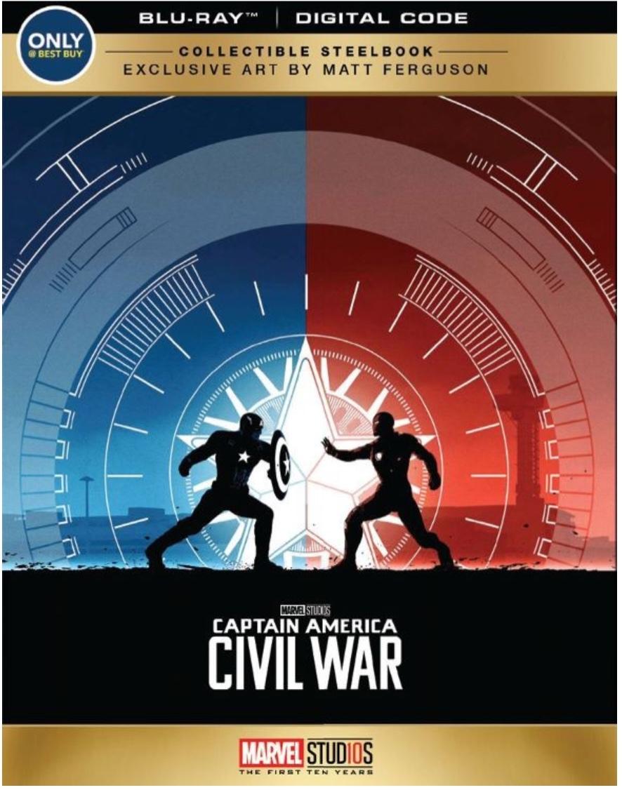 【新品★送0】シビル・ウォー/キャプテン・アメリカ Blu-ray スチールブック数量限定版!★希少デザイン仕様★大変貴重な一品です。_画像1