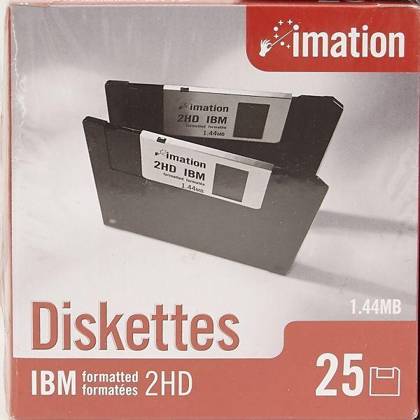 ★新品同様 imation Disketten Disquetes IBM 2HD 1.44MB 未開封 計5点 セット フロッピーディスク_画像2