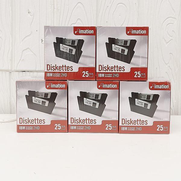 ★新品同様 imation Disketten Disquetes IBM 2HD 1.44MB 未開封 計5点 セット フロッピーディスク