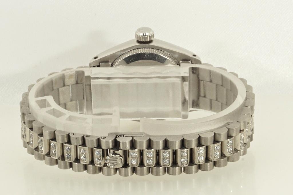 ロレックス ROLEX OYSTER PERPETUAL ホワイトシェル 自動巻き式腕時計 オーバーホール済 動作良し レディース_画像5
