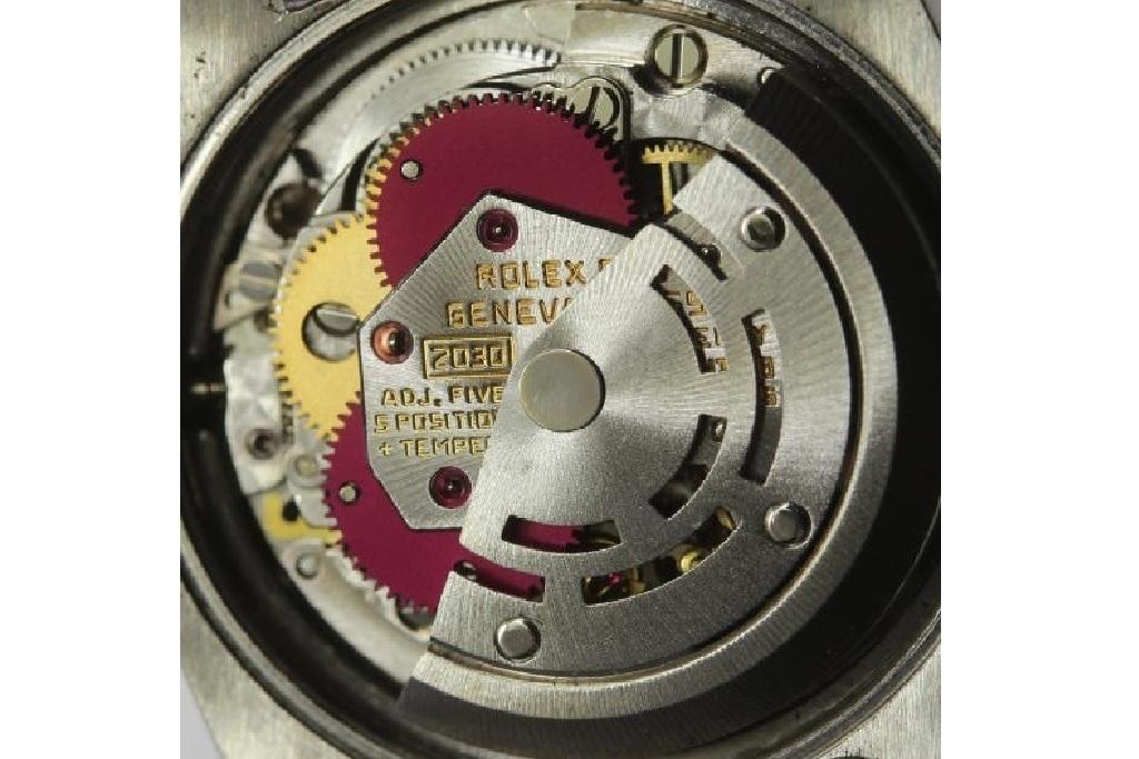 ロレックス ROLEX OYSTER PERPETUAL ホワイトシェル 自動巻き式腕時計 オーバーホール済 動作良し レディース_画像8