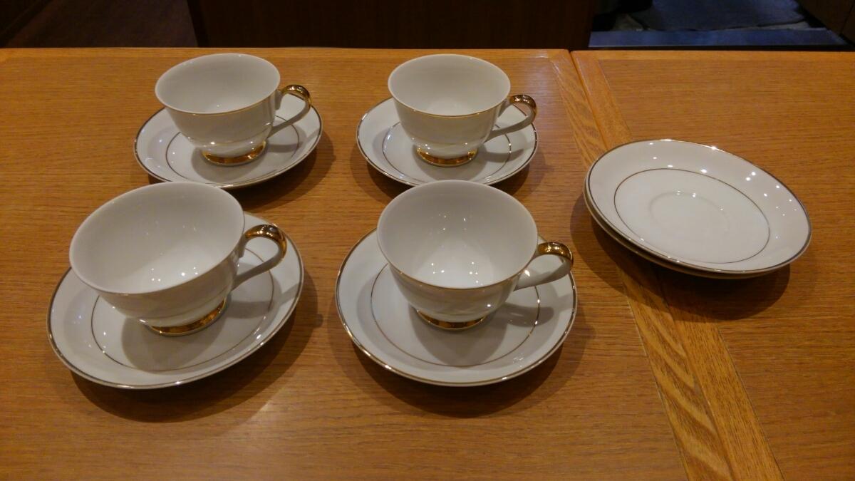 《中古》KEINAN コーヒーカップ 4客セット 9㎝_画像1