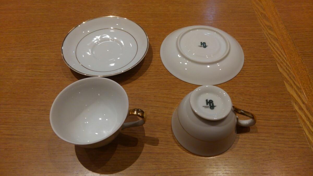 《中古》KEINAN コーヒーカップ 4客セット 9㎝_画像2