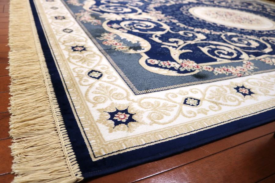 ペルシャ柄絨毯 160×230 新品未使用 カーペット 訳あり アウトレット ネイビー_画像4