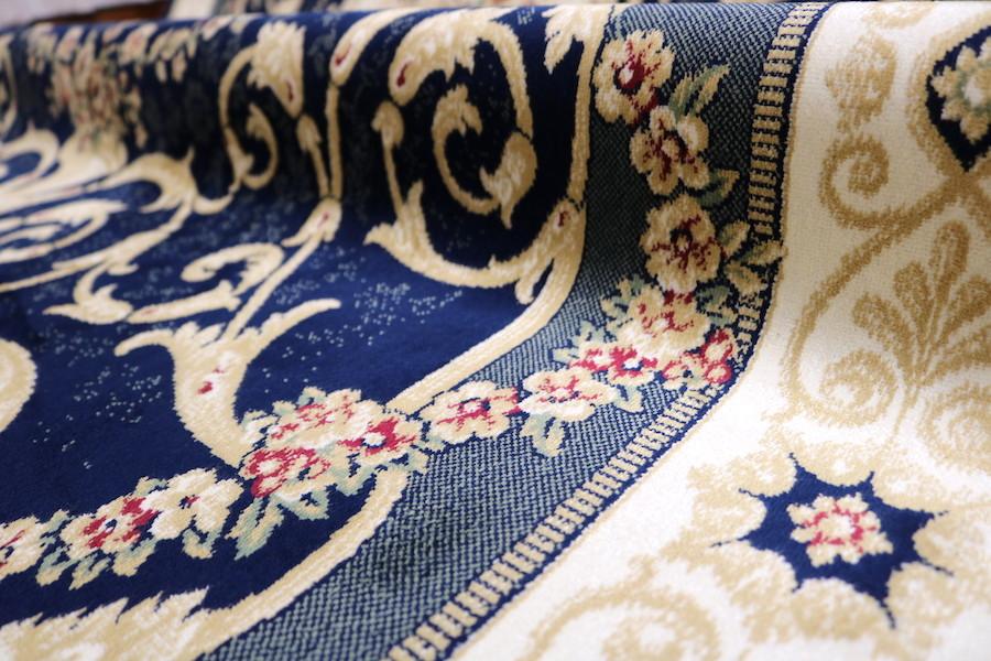 ペルシャ柄絨毯 160×230 新品未使用 カーペット 訳あり アウトレット ネイビー_画像10