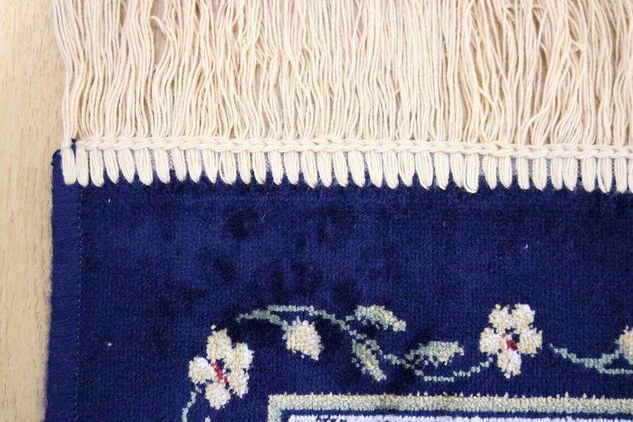 ペルシャ柄絨毯 160×230 新品未使用 カーペット 訳あり アウトレット ネイビー_画像5