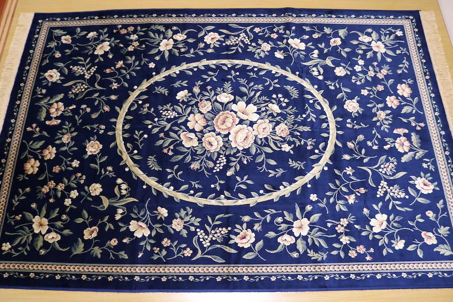 ペルシャ柄絨毯 160×230 新品未使用 カーペット 訳あり アウトレット ネイビー_画像3