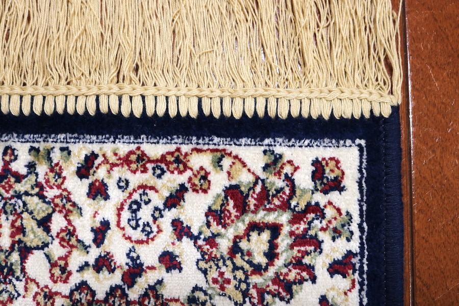 ランナー ペルシャ柄絨毯 67×240 新品未使用 カーペット 玄関マット 訳あり アウトレット ネイビー_画像5