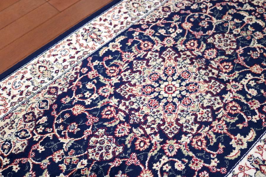 ランナー ペルシャ柄絨毯 67×240 新品未使用 カーペット 玄関マット 訳あり アウトレット ネイビー_画像6