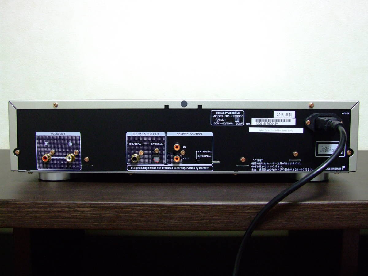 【アナログレコード音質】marantz CDプレーヤー CD6006 高音質化改良品 syno tune Extra Tune STUDER,LINN,SA-7S1でもご不満の方に値交渉有_画像3