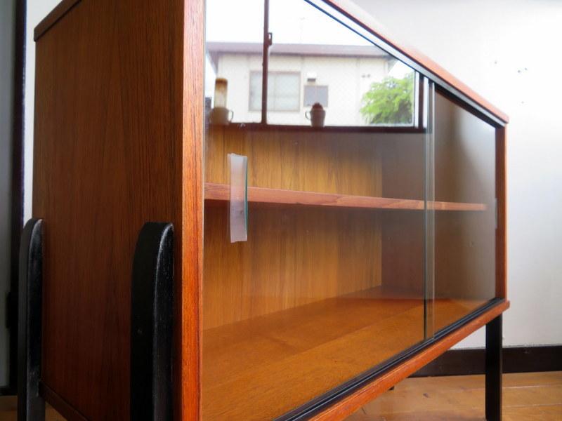 最落なし⑮・メンテナス済み・チーク・イギリスヴィンテージ家具・アバロンガラスキャビネット/検索北欧・McINTOSH・G-PLAN・デンマーク・_画像5
