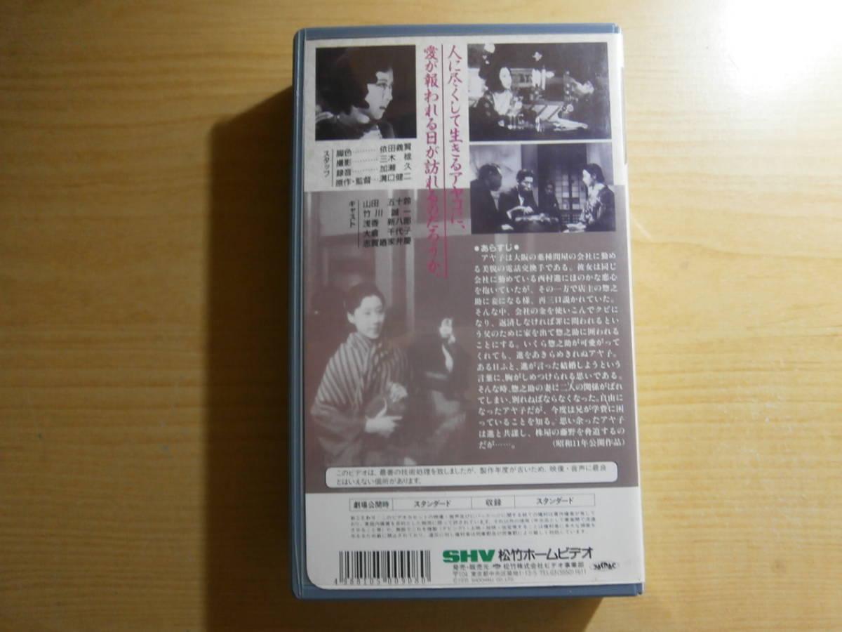VHS 監督 溝口健二 山田五十鈴 「浪華悲歌」_画像2