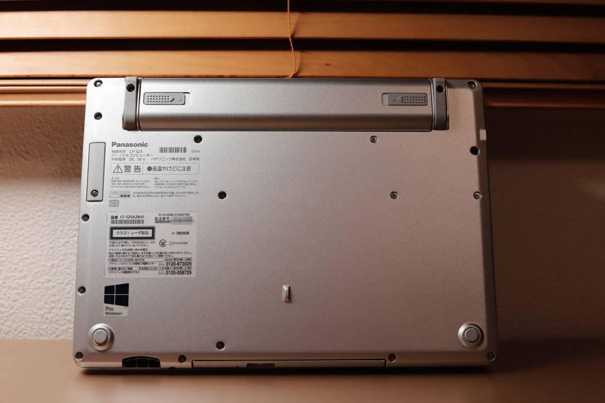 ☆外観良好/レッツノート CF-SZ5/Windows10 pro/Core i5-6300U/8Gメモリ/SSD 256GB/オフィス2019付/DVD光学ドライブ搭載☆_画像5