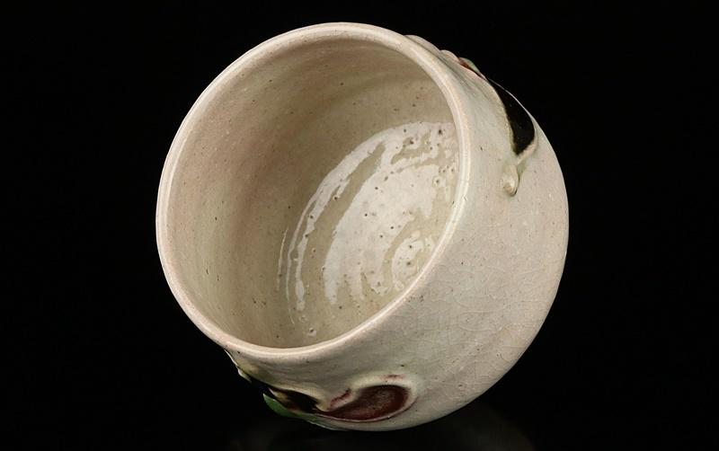 【河井寛次郎】最上位作 白地筒描花文碗 民藝巨匠 識箱 保証_画像6