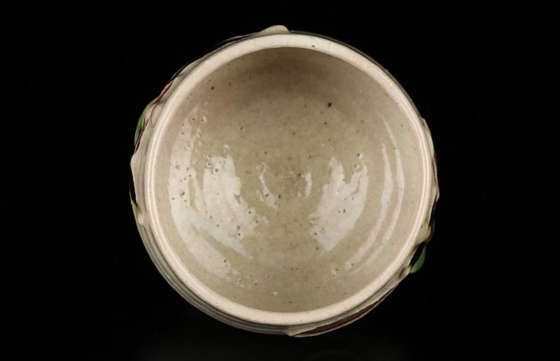 【河井寛次郎】最上位作 白地筒描花文碗 民藝巨匠 識箱 保証_画像4