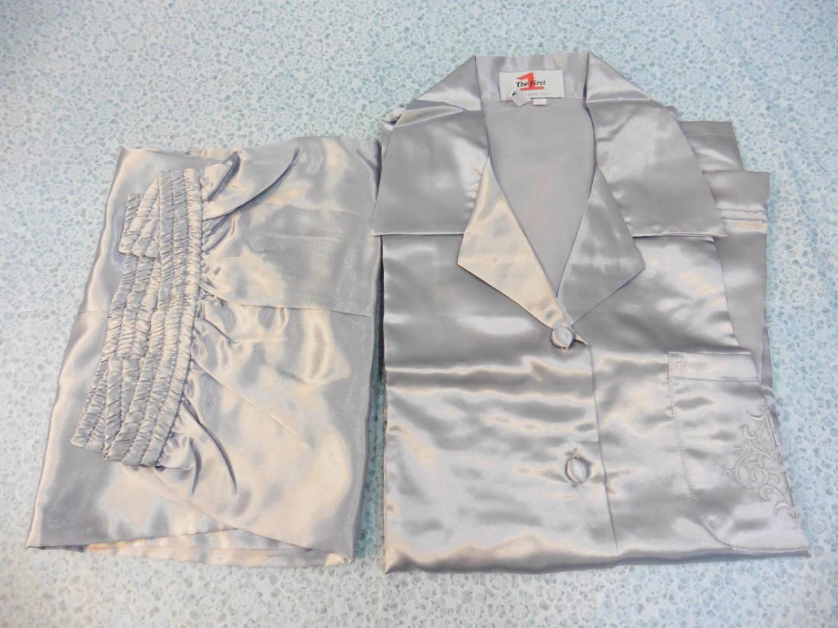 女性用 ナイトウェア 長袖 上下 パジャマ PURE SILK Lサイズ 100% シルク/絹 保管品 LP360