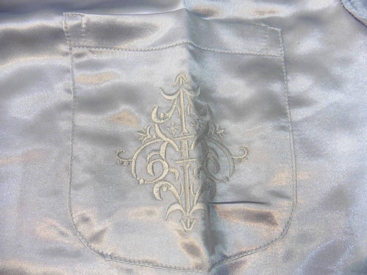 女性用 ナイトウェア 長袖 上下 パジャマ PURE SILK Lサイズ 100% シルク/絹 保管品 LP360_画像5