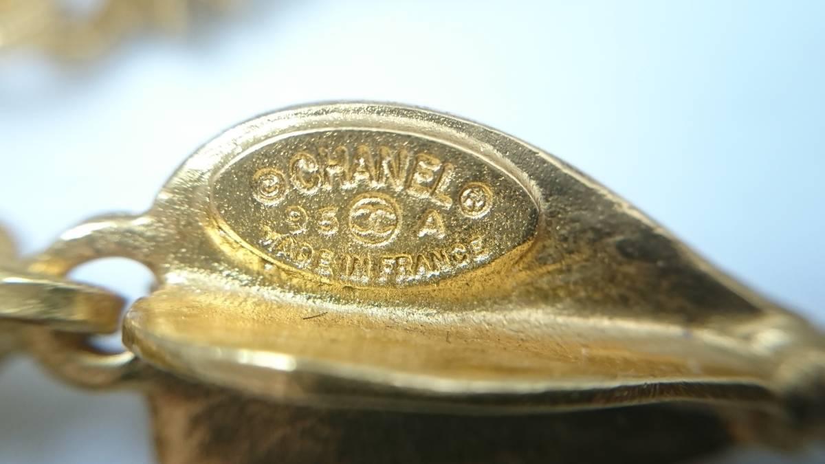 B336 シャネル CHANEL イヤリング ゴールド ココマーク 95A 1円スタート_画像8