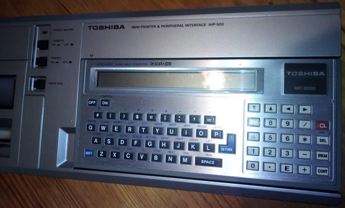 ジャンク品 東芝「IHP-500とIHC-8000とIHM-200」 PASOPIAmini TOSHIBA パソピア RAMパック 12k BYTE_画像4