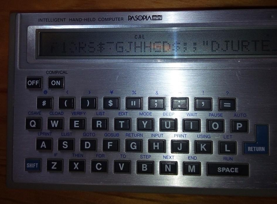 ジャンク品 東芝「IHP-500とIHC-8000とIHM-200」 PASOPIAmini TOSHIBA パソピア RAMパック 12k BYTE_画像2