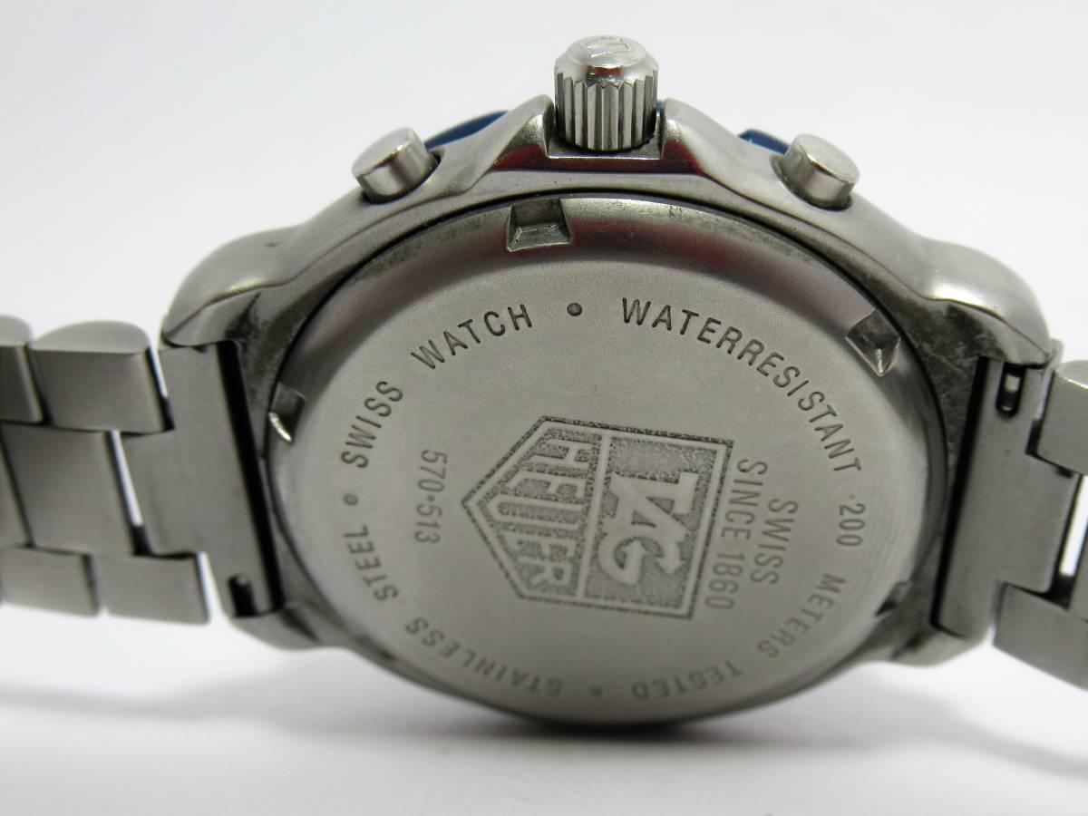 W7756 タグホイヤー フォーミュラ1 570.513 クロノグラフ デイト メンズ クォーツ ラウンド 腕時計_画像4