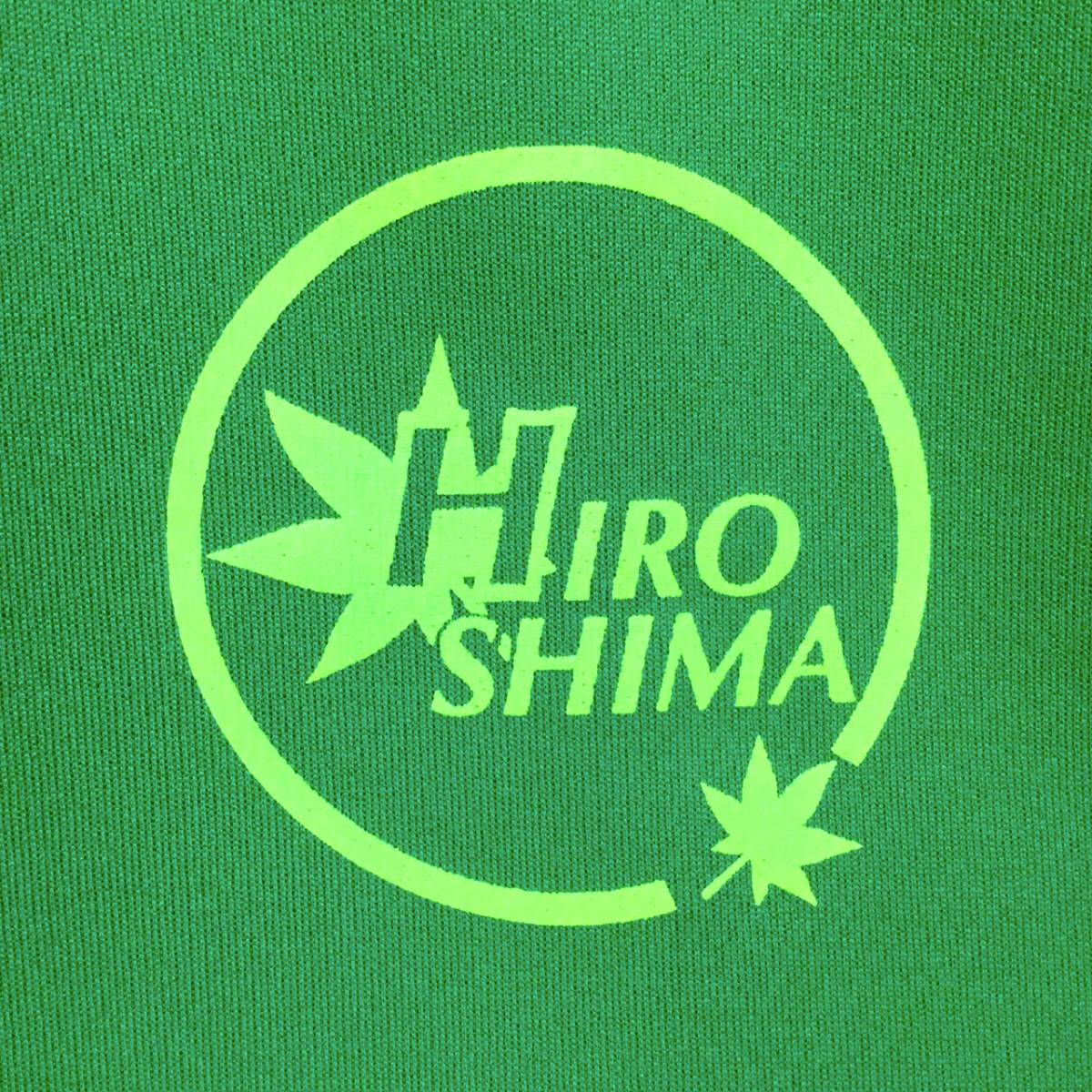 ドライTシャツ 広島ロゴ グリーン生地 XLサイズ_画像3