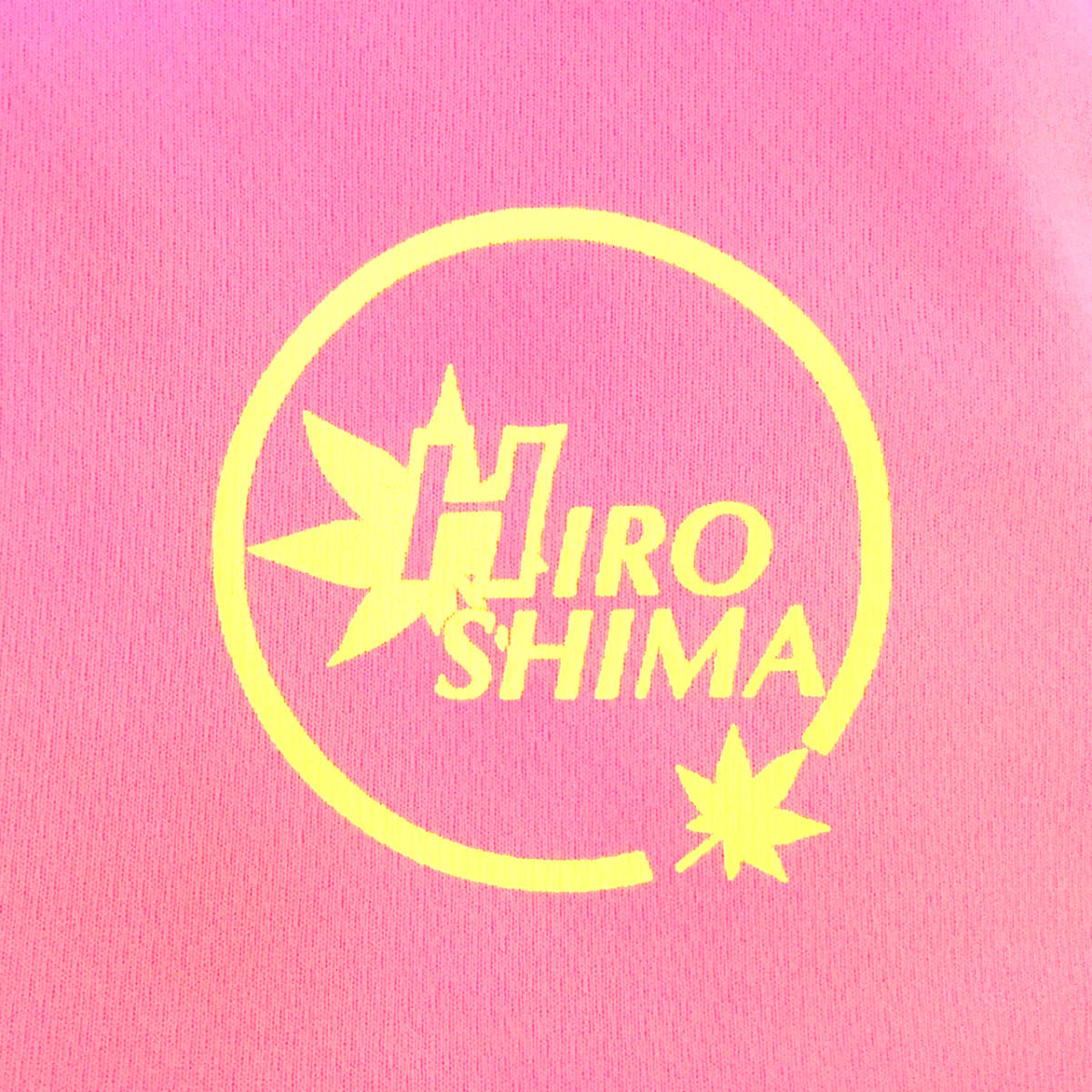 ドライTシャツ 広島ロゴ ピンク生地 XLサイズ_画像3