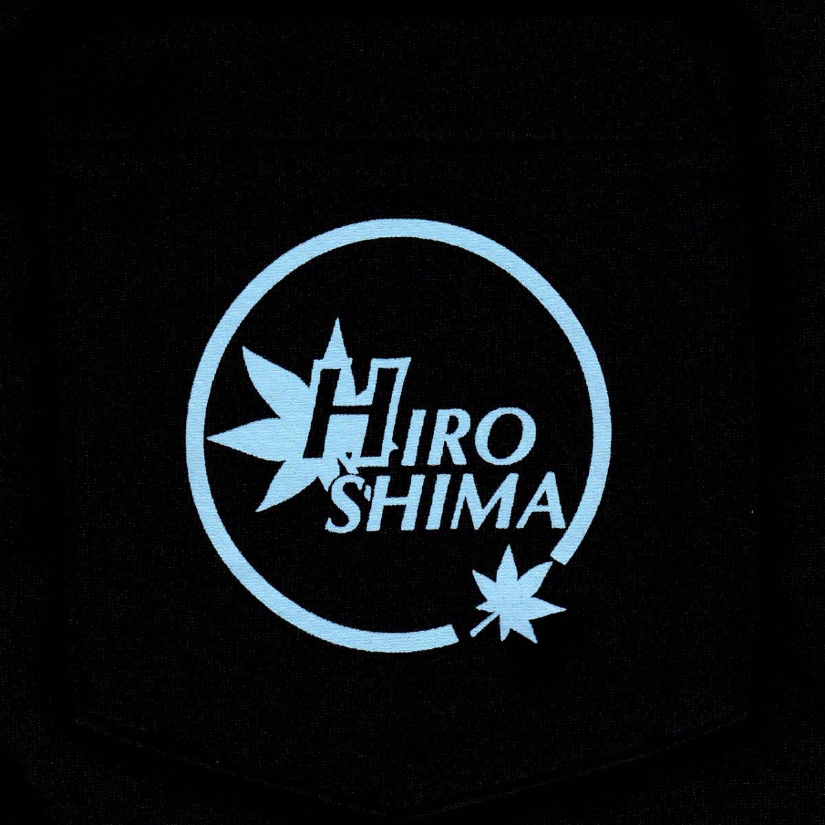 ドライポロシャツ 広島ロゴ ブラック生地_画像3