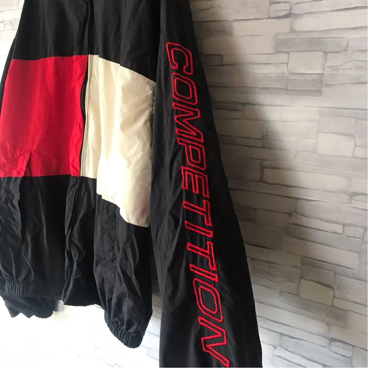 90s ノーティカ NAUTICA ナイロンジャケット ツートンカラー 袖ロゴ 裏メッシュ アウター ウィンドブレーカー セーリングジャケット_画像6