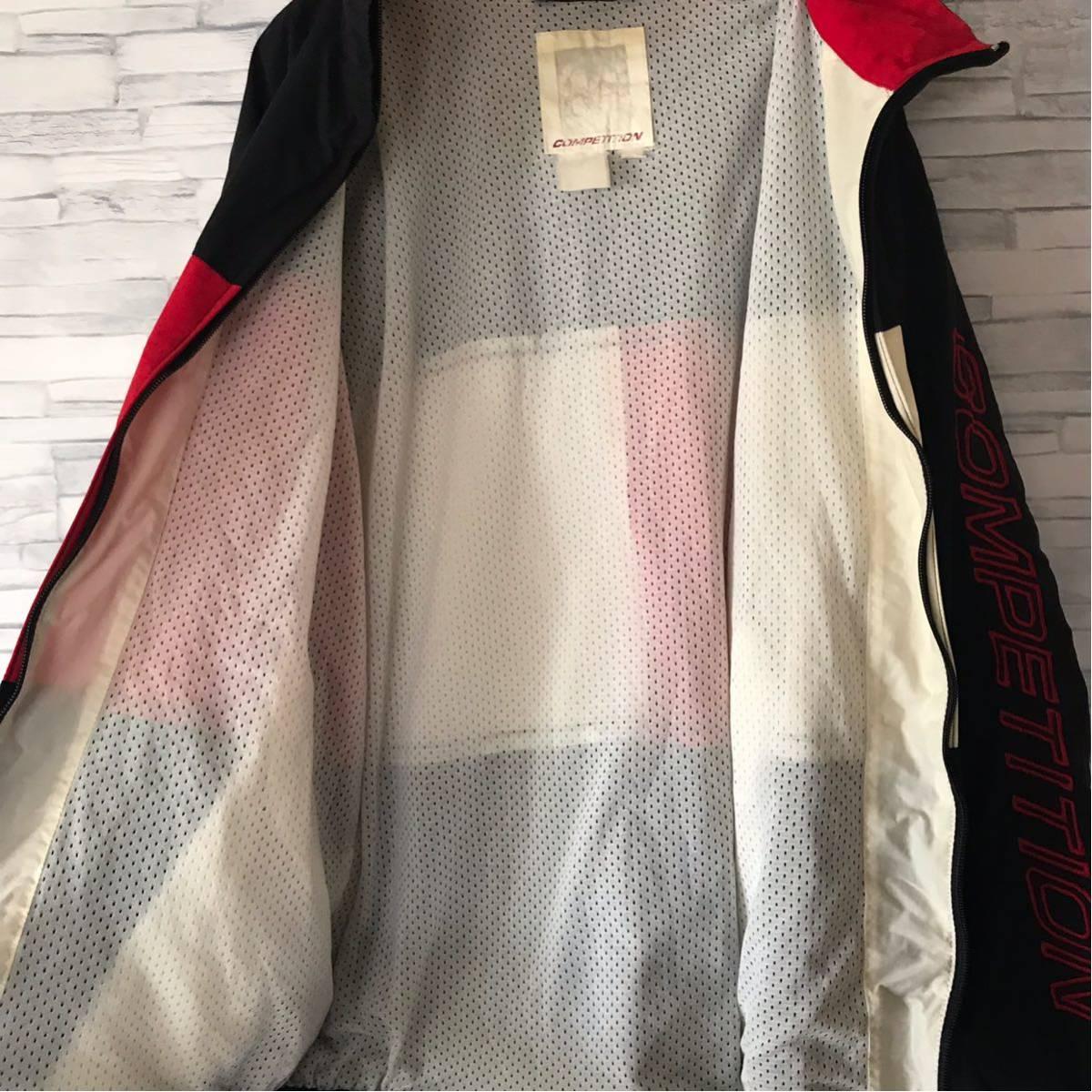 90s ノーティカ NAUTICA ナイロンジャケット ツートンカラー 袖ロゴ 裏メッシュ アウター ウィンドブレーカー セーリングジャケット_画像4