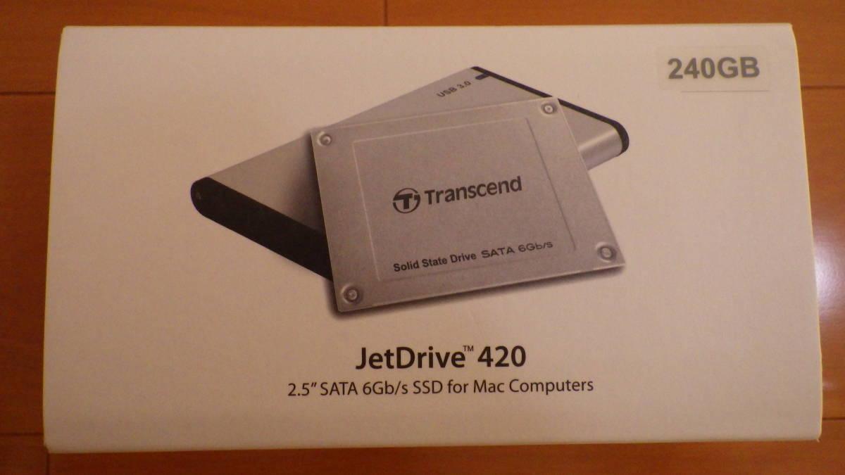 ★送料無料!!★ Transcend SSD MacBook Pro/MacBook/Mac mini専用アップグレードキット SATA3 6Gb/s 240GB JetDrive / TS240GJDM420