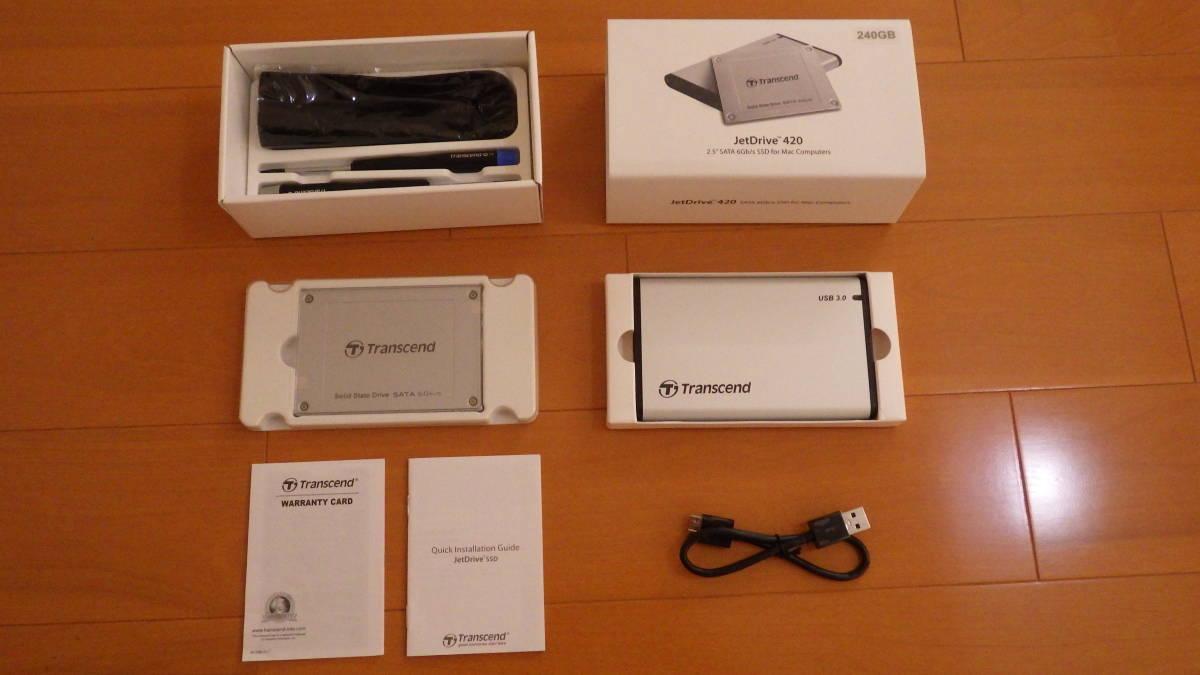 ★送料無料!!★ Transcend SSD MacBook Pro/MacBook/Mac mini専用アップグレードキット SATA3 6Gb/s 240GB JetDrive / TS240GJDM420_画像3