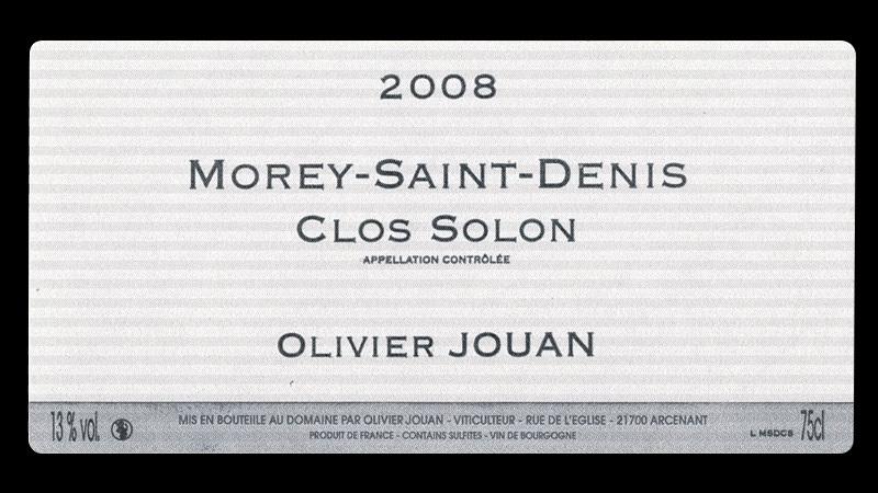 オリヴィエ・ジュアン モレ・サン・ドニ クロ・ソロン 2015_イメージ画像ヴィンテージは2015