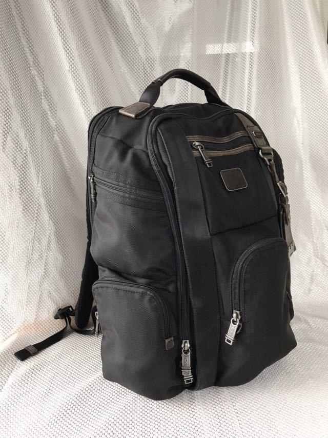【良品・保証残有り】TUMI アルファ ブラボー 大型ビジネスリュック 22382HKH 国内正規品 ☆スーツケースへのキャリーオン可能☆_画像2