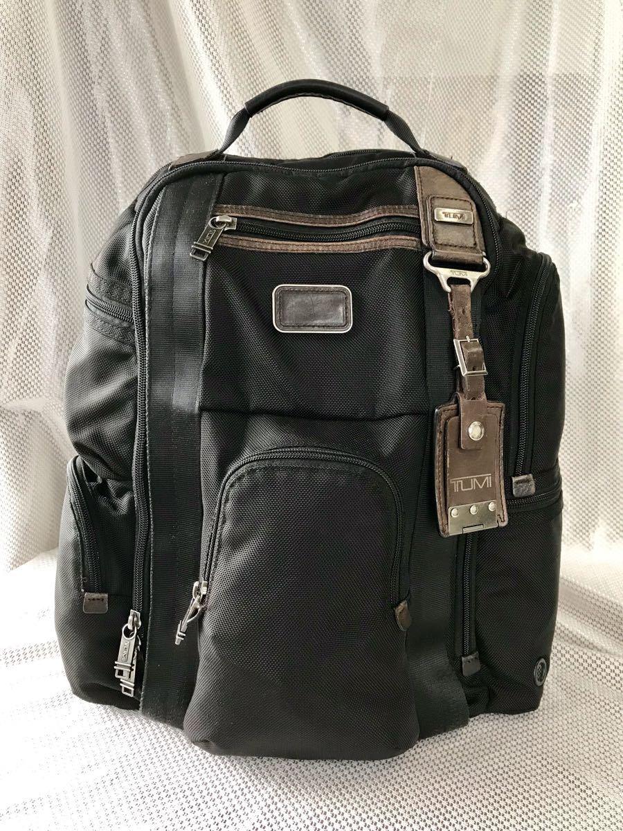 【良品・保証残有り】TUMI アルファ ブラボー 大型ビジネスリュック 22382HKH 国内正規品 ☆スーツケースへのキャリーオン可能☆_画像3