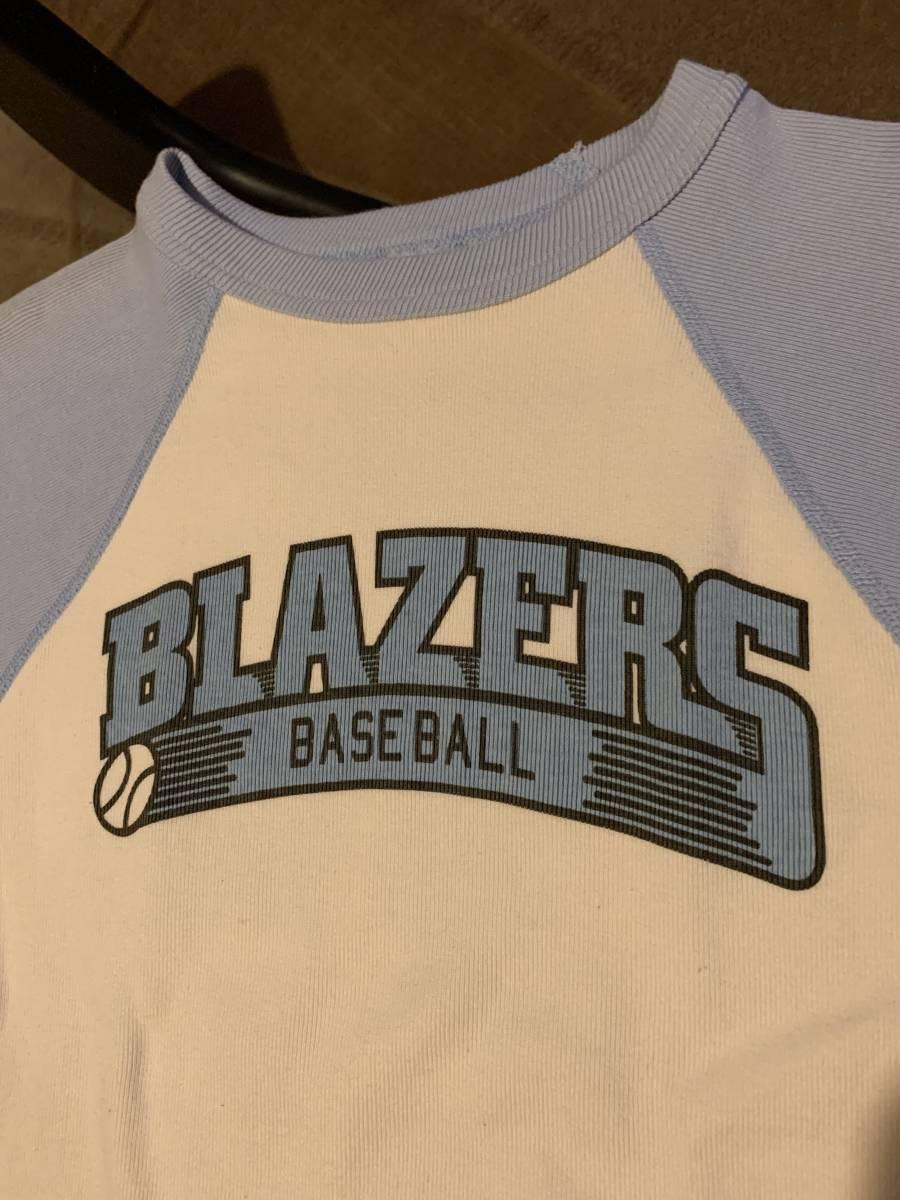 厚手 ベースボール Tシャツ ラグラン Sサイズ相当