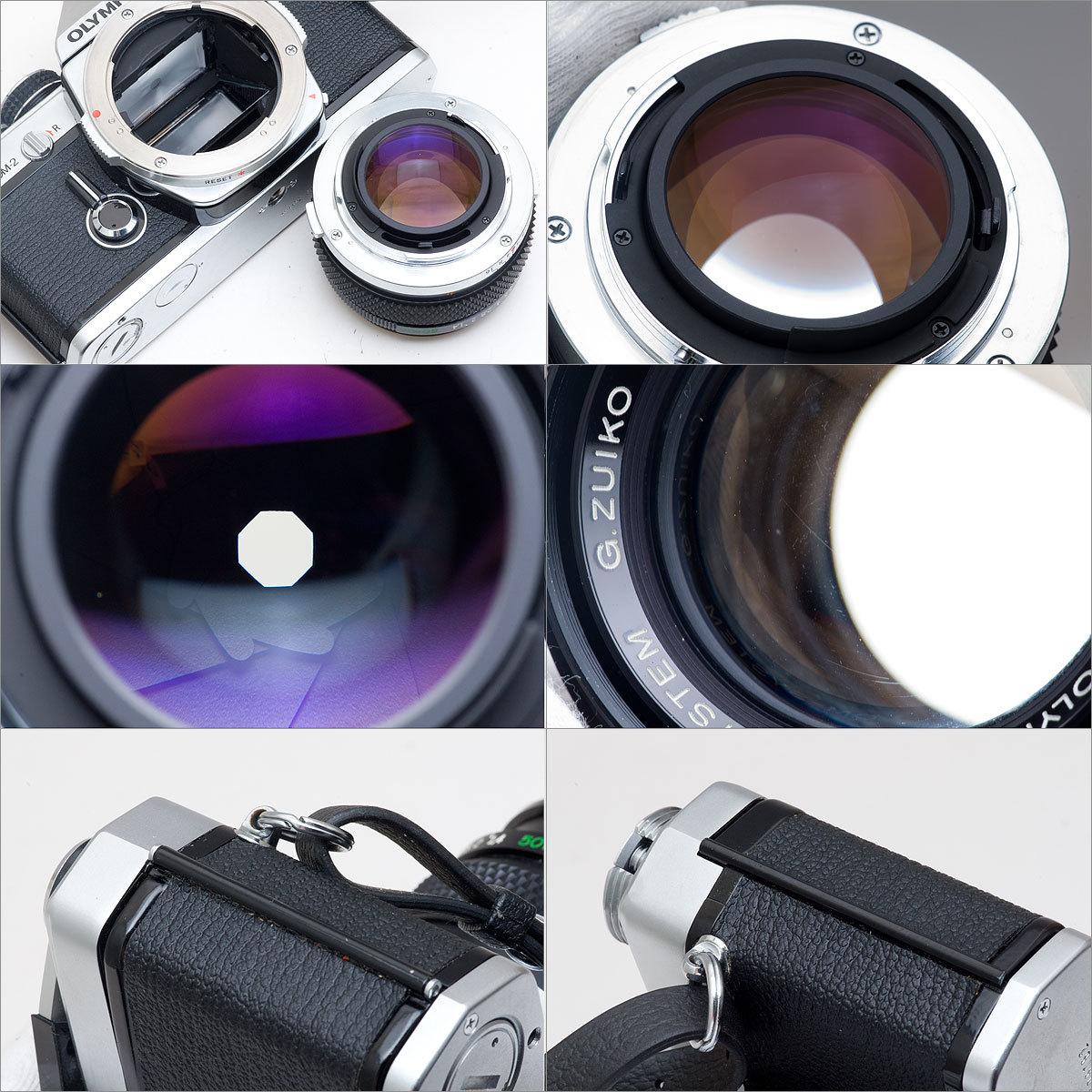 OLYMPUS OM-2 (接眼レンズ部クラック)G.ZUIKO AUTO-S 1:1.4 f=50mm 速写ケース_画像4