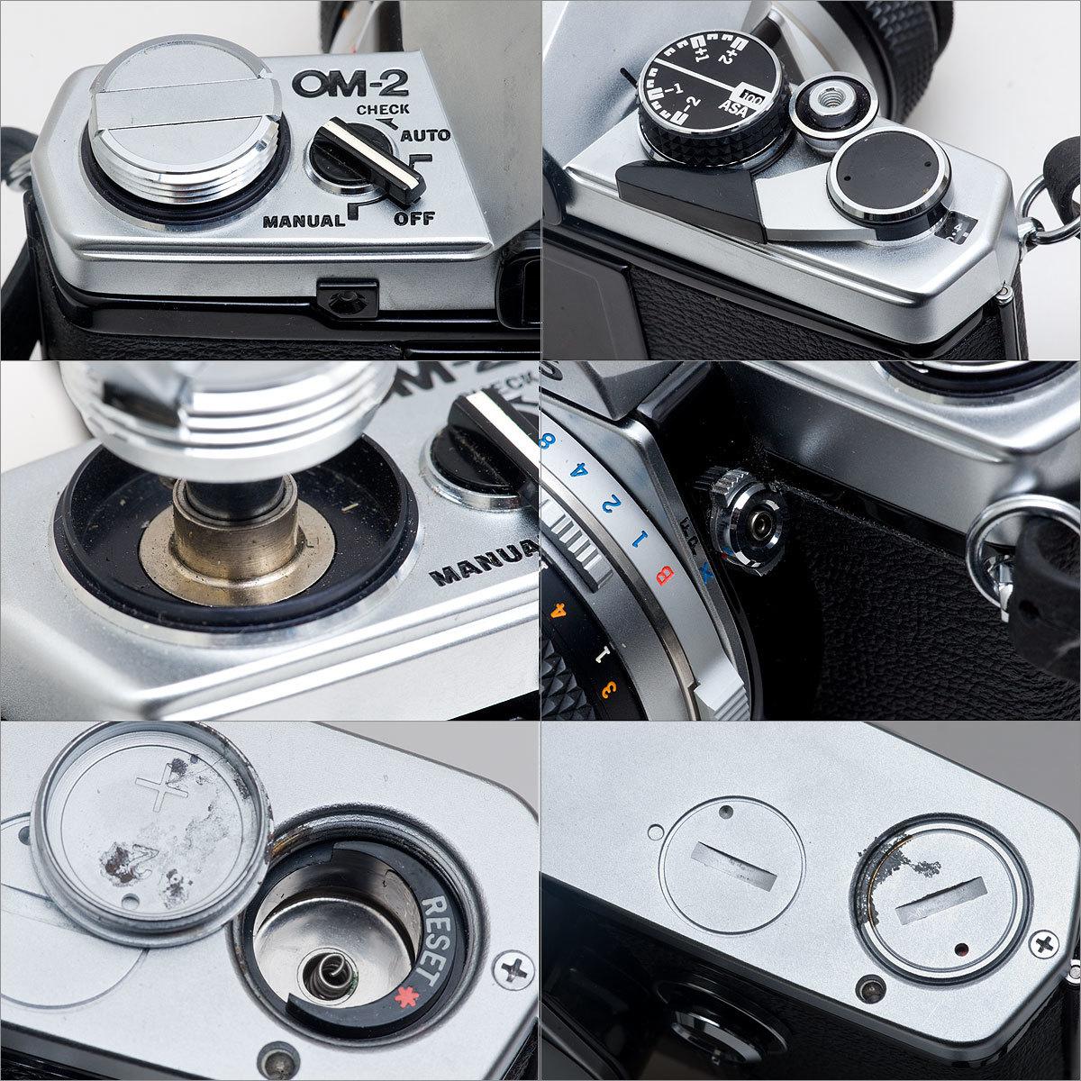 OLYMPUS OM-2 (接眼レンズ部クラック)G.ZUIKO AUTO-S 1:1.4 f=50mm 速写ケース_画像3