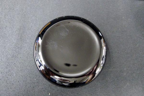 T463 会津塗 天然木漆器 鉄仙蒔絵 螺鈿入り 幸寿多揃 菓子器 共箱 / 60_画像5