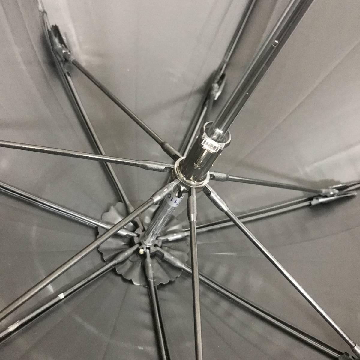 い090761 中古 YVES SAINT LAURENT イヴサンローラン AURORA オーロラ 晴雨兼用 雨傘 日傘 長傘 サマーシールド 女性用_画像3