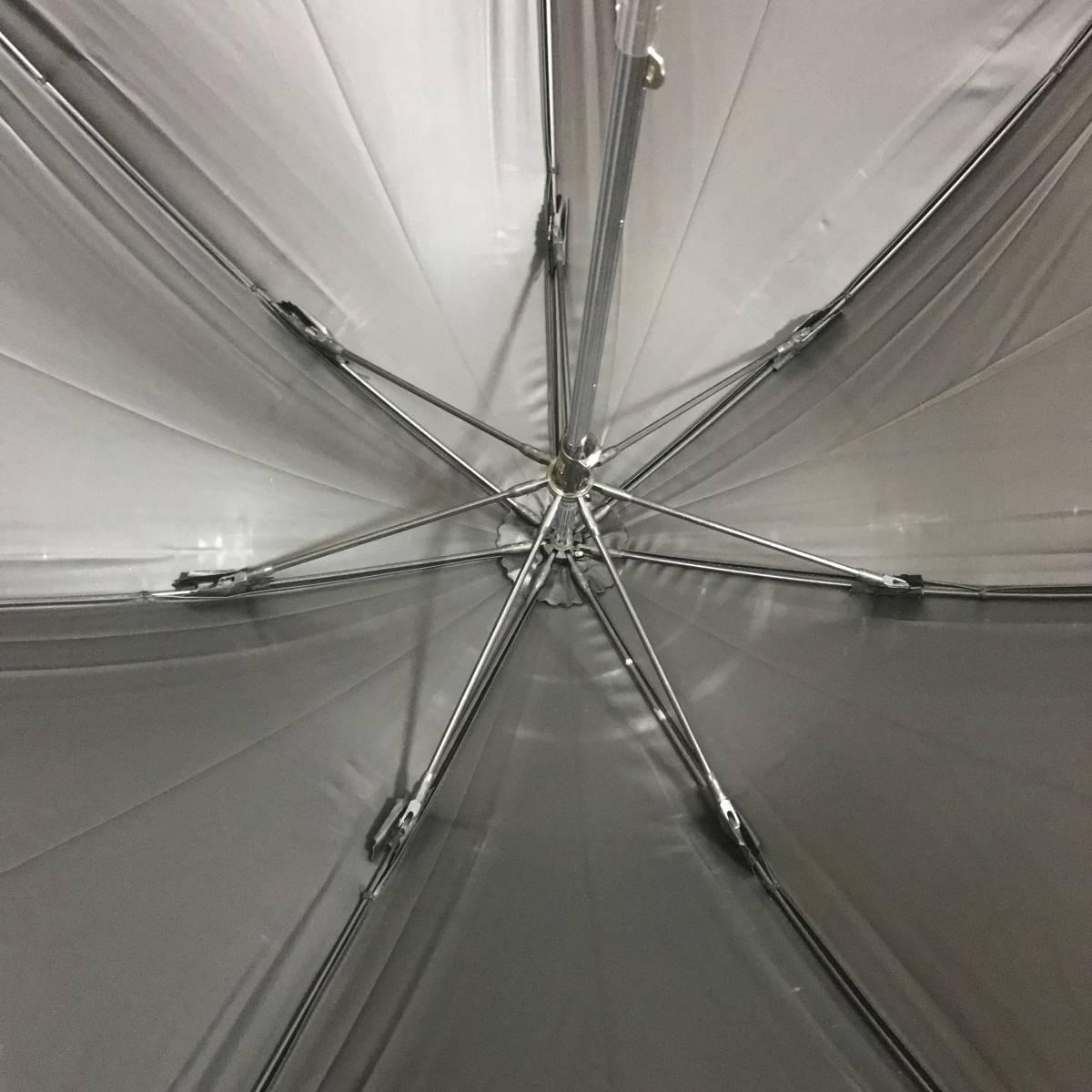 い090761 中古 YVES SAINT LAURENT イヴサンローラン AURORA オーロラ 晴雨兼用 雨傘 日傘 長傘 サマーシールド 女性用_画像8
