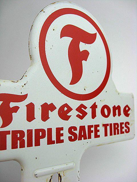 1950's Firestone ファイヤーストーン ビンテージ トッパー 検 アメ車 ホットロッド BELL 500TX ハーレー HOTROD 看板 NHRA トライアンフ_画像6