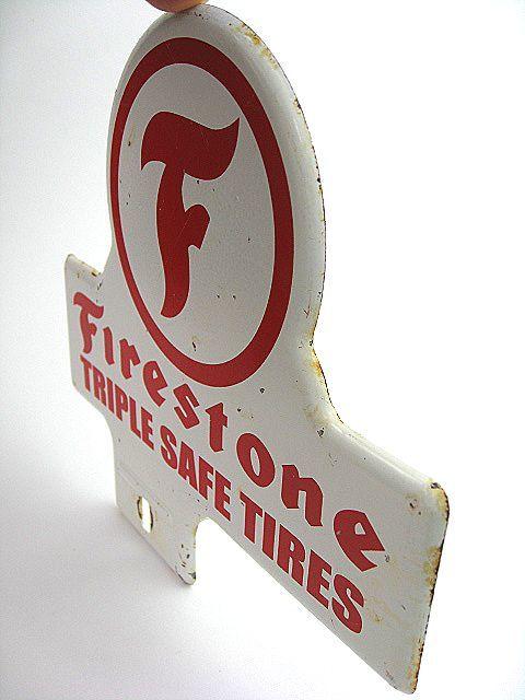 1950's Firestone ファイヤーストーン ビンテージ トッパー 検 アメ車 ホットロッド BELL 500TX ハーレー HOTROD 看板 NHRA トライアンフ_画像7